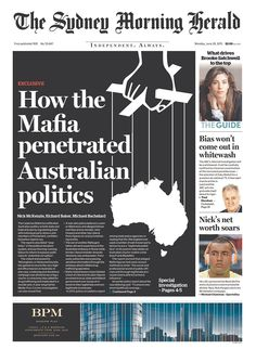 The Sydney Morning Herald for June 29, 2015, via Today's Front Pages | Newseum #newsdesign #newspapers