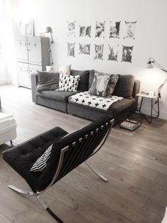 livingroom crux blanket, grey sofa, barcelona chair aggyslifestyle.blogspot.com