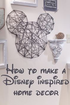 How to Mickey Inspiration--For more moveable, imagine with (black?) foamboard and white/red yarn How to Mickey Inspiration--For more moveable, imagine with (black?) foamboard and white/red yarn Disney Diy, Disney Home Decor, Disney Crafts, Disney Room Decorations, Disney Kitchen Decor, Disney Wall Decor, Disney Ideas, Disney Bathroom, Mickey Mouse Bathroom