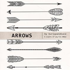 Check out Hand Drawn clipart arrows by burlapandlace on Creative Market