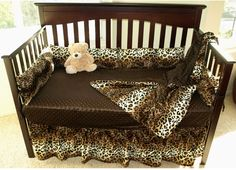 Leopard Print Crib Bedding Set