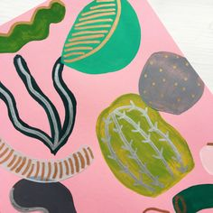 Another new piece up on the shop...tropical plant print 🌴