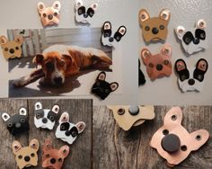 Refrigertor Magnets Beagle, Frenchie, Schnauzer, Doxie, Pit Bull, Dog Pet Lover Aluminum Custom Rivets Stamped