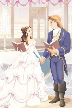 Photo of Belle and Adam's Wedding for fans of Belle. Beauty and the Beast, Belle will be my favorite Disney princess. Disney Pixar, Walt Disney, Disney And Dreamworks, Disney Animation, Disney Magic, Disney Art, Disney Beauty And The Beast, Disney And More, Disney Dream