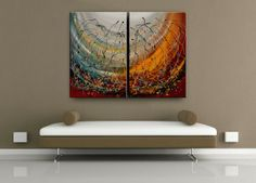 Original Fine Art Paintings abstract Modern Art Contemporary Oil Paintings Large Red Black