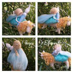 Einhorn mit Prinzessin gefilzt von Inges Elfenwelt auf DaWanda.com