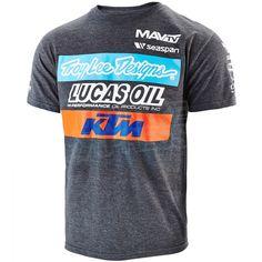 0f5fa7c709a T-Shirt Troy Lee Design KTM Lucas Oil - Charcoal Design T Shirt
