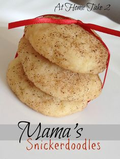 Mama's Snickerdoodle Cookies are amazingly easy to make, great for baking with kids in the kitchen.  Cinnamon and sugar cookies