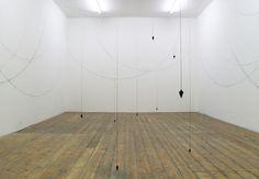 David Ricard,   Borderlines, 2010  Plumb Bob weights, string, ink   Dimensions variable  Image: Manolo Verga // Sumarria Lunn, London
