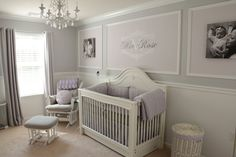 This lavender and gray nursery is elegant, yet so functional! - Project Nursery