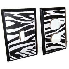 Zebra Room Decor Outlet Cover.