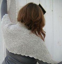 Cosy shawl alpaca drops porté 004B