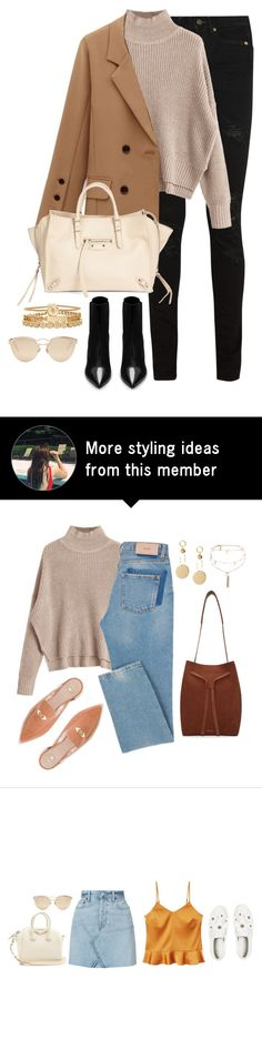 """Untitled #4558"" by magsmccray on Polyvore featuring Yves Saint Laurent, Balenciaga, Treasure & Bond and Christian Dior"