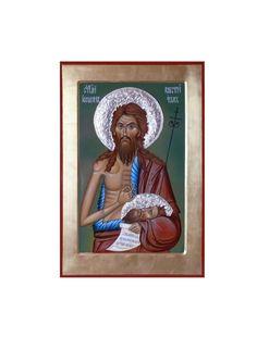 St. John the Forerunner, St John the Baptist, hand painted, Byzantine, orthodox icon by georgi Chimev, iconart, orthodox gift, iconography, Greek icon, Russian icon by ArtByChimevi on Etsy