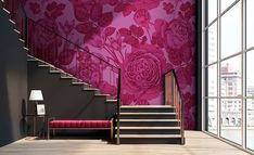 Pink Wallpaper, How to decorate with the color pink, pink accessories in your home, how to use pink #pinkfurniture #interieurdesign #interieur #colorfuldesigner #pinkwalls #