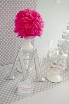 Love the M. Monogram goes well with the Southern Belle theme also.