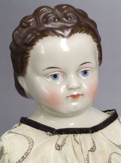 Large Brown-Haired China Shoulder Head Lady Doll | Sale Number 2314, Lot Number 80 | Skinner Auctioneers