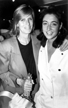 Linda and Mary McCartney at the Nordoff Robbins Silver Clef Luncheon in London, 1988