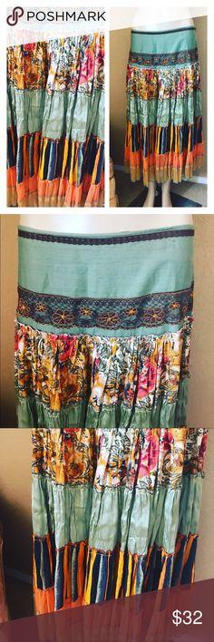 💕🦋GYPSY HIPPIE BOHO SKIRT 🦋💕 🌈🦋💕🦋GYPSY HIPPIE BOHO SKIRT 🦋💕fits size medium! Very comfy ✌🏼❤️ pics self explanatory Skirts Midi