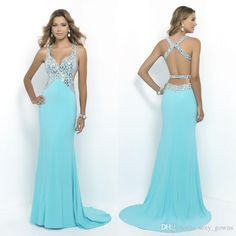 Show your best to all people even in the evening and then get new sexy evening dresses light sky blue v neck sheath long formal dresses crystal top backless prom party gowns custom made hy00833 in sexy_gowns and choose wholesale sequin evening dress,short black evening dresses and silk evening dresses on DHgate.com.