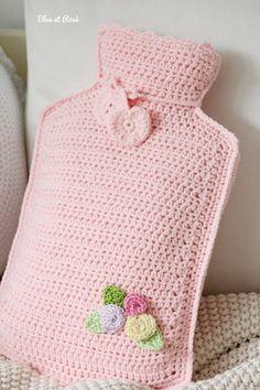 Crochet hot water bottle by MacsAngel Crochet Kitchen, Crochet Home, Love Crochet, Crochet Gifts, Beautiful Crochet, Diy Crochet, Crochet Flowers, Crochet Bikini, Knitting Patterns