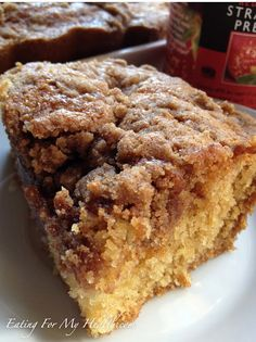 Yummy and easy to make - Gluten-Free Strawberry Crumb Cake from Eating for My Health