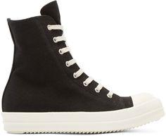 Rick Owens Drkshdw - Black Canvas High-Top Sneakers