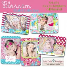 Blossom Wallet Collection by FotoTale Designs wallet templates - layered, .