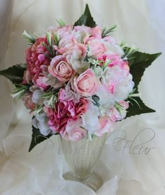 Paloma Wedding bouquet white hydreangea creamy by LaPlumeDeFleur
