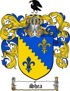 Shea Coat of Arms Shea Family Crest Instant Download - for sale, $7.99 at Scubbly