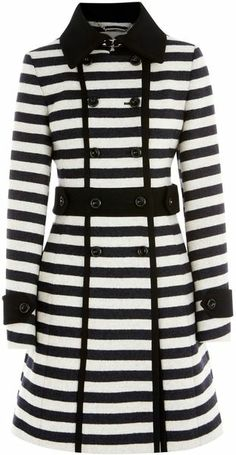 The perfect way to do stripes for fall!