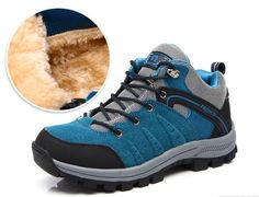 Brand  Winter Plush Unisex Outdoor Shoes Lovers Walking Hiking Shoes