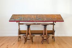 Vintage Industrial Hamilton Art Studio Drafting Table