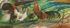 """Antonio Ligabue """"Pollaio"""", oil painting - 1941 Lot 108"""