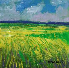 "Daily Paintworks - ""rapeseed field"" - Original Fine Art for Sale - © salvatore greco"