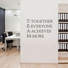 Cheap decal wall, Buy Quality decal sticker directly from China decorative furniture decals Suppliers: Team work Motivational Wall quotes Sticker,Inspirational words poster vinyl decal for Office decor