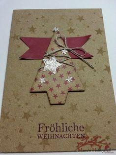 Manu´s Hobbytreff: Auch ich muss noch Weihnachtskarten basteln....