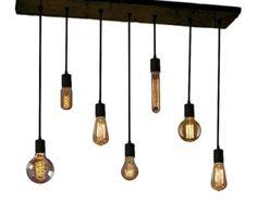 7 Pendant Edison Bulb Industrial Chandelier by HangoutLighting