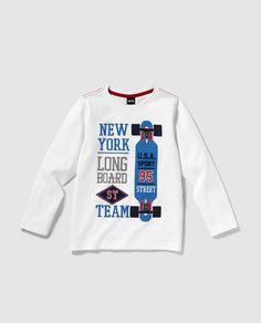 0f8e69a28 EL CORTE INGLES COMPRAS · Camiseta de niño Freestyle en blanco con print  Camisetas Bebe