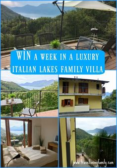 Luxury Italian Lakes family holiday giveaway! Win a week in a three bed luxury family villa overlooking Lake Maggiore in the Italian Lakes with Bookings For You