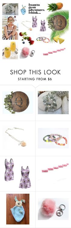"""Nice finds"" by blingauto ❤ liked on Polyvore featuring Green & Spring, Pink, etsy and gifts"