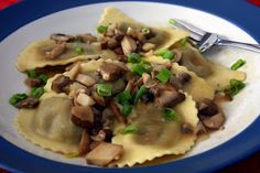 Lauren's Kitchen: Mushroom Ravioli with Marsala Sauce