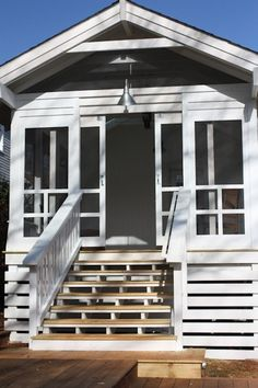 We're getting out of the kitchen area today, and also into the screened in porch. I'm sharing screened in porch ideas on exactly how to make the most of a small budget plan. Enclosed Porches, Decks And Porches, Screened In Porch, Side Porch, Front Porch, Porch Interior, Lean To Roof, Sliding Screen Doors, Building A Cabin