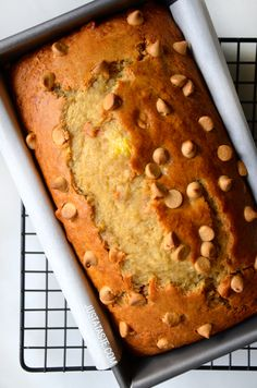 Peanut Butter Banana Bread Recipe from justataste.com @justataste