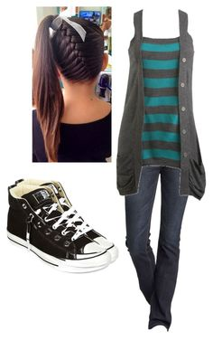 """""""Untitled #1563"""" by bubble-loves-you ❤ liked on Polyvore featuring Express, Wet Seal and Converse"""