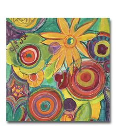 Another great find on #zulily! Colorful Flowers I Canvas #zulilyfinds
