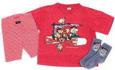Niedliche #FredFeuerstein Socken, passend zum T-Shirt und Radler von #Schiesser in Gr. 104.