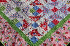 Diana's great quilting... Winter Romance quilt in PamKittyMorning fabrics.