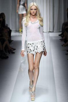 Vlada Roslyakova at Versace S/S 2010.                                                                                                                                                                                 More