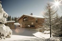 Modernes Alpen-Chalet - Holz - Living at Home